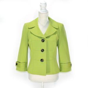 TAHARI Lime Green Career Blazer